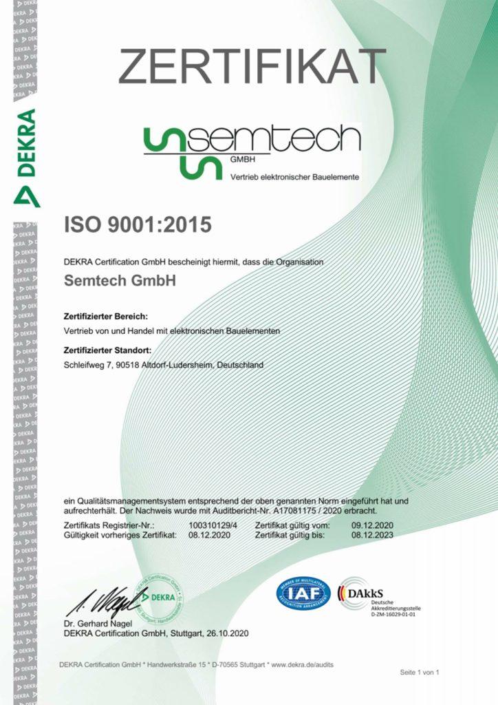 Semtech-GmbH-ISO-9001-2015-deutsch